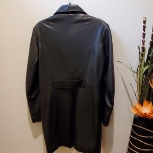 dimension Jackets & Coats - Long black leather jacket